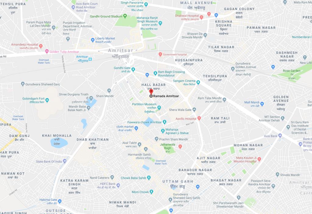 Ramada Hotel Amritsar Map